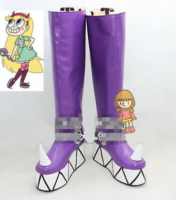 Star vs.the Forces of Evil Princess Star Butterfly Magic purple Cosplay Shoes AA