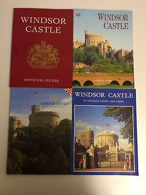 x4 Books Windsor Castle - Official Guidebooks - St.George's Chapel And Parks