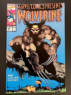 MARVEL COMICS PRESENTS #85 WOLVERINE SIGNED by SAM KIETH VF