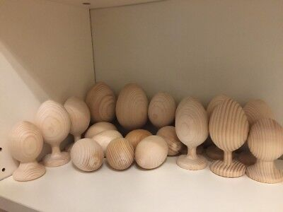 Wooden Handcraft Eggs For Painting 19 Pieces