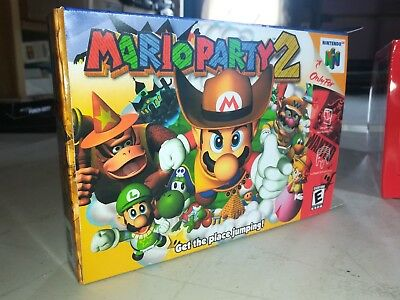Mario Party 2 Box Only N64 Replacement Art Case/Box! Nintendo 64!