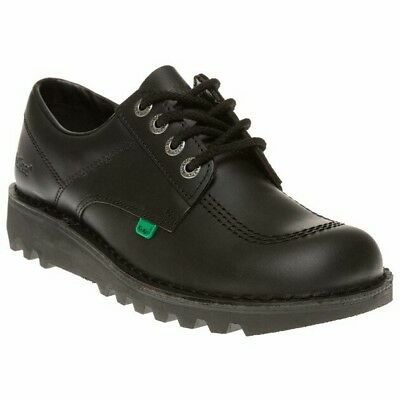 Kickers Lo Kick Men's Black Leather Smart Work/School Shoes UK Sizes 6.5 To 11