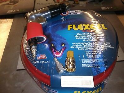 "New Sioux 3/8"" Reversible Drill W/ 50 Ft 3/8"" Flexeel Hose & Fitting Kit"