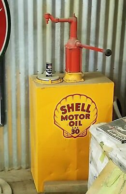 Shell Motor Oil SAE30 Pump and Container-Collectible, Vintage? Antique?