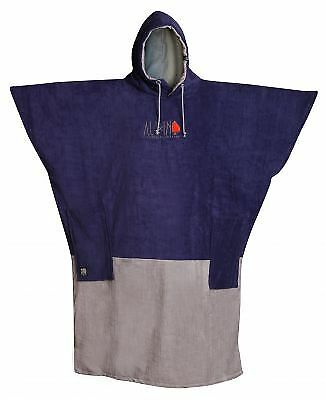 Poncho All In V Big Foot Cobalt Chiné