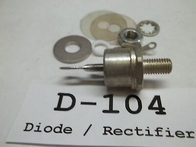Diode Rectifier SCR, 50RIA60, with hardware, NOS, (D104)