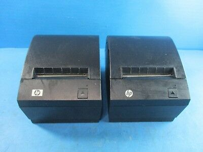 Lot of 2 - HP Point of Sale Thermal Printer A799-C40W-HN00 - USED