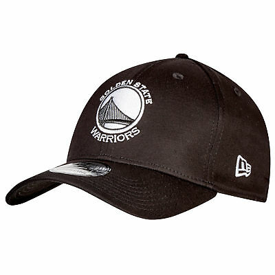 NBA Golden State Warriors Monochrome Team Logo New Era 39THIRTY Stretch Fit Cap