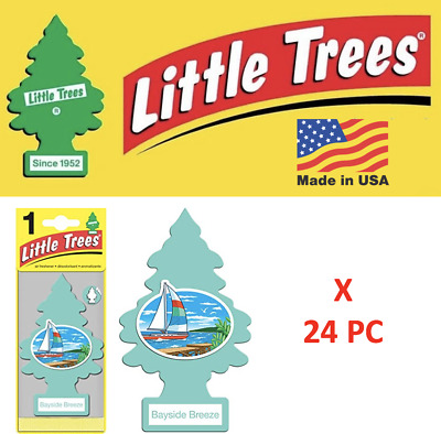 Little Trees Freshener 17121 Bayside Breeze MADE IN USA Pack  of 24