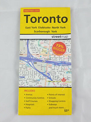 "Toronto Street Map c2010 by Canadian Cartographics Corp - LARGE 36""x48"""