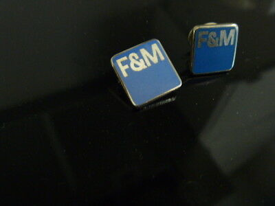 First & Merchants Bank F&M Lapel Pin and Tie Tack Collectible Bank  in Virginia