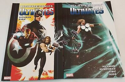 Lot of 2 Marvel Comics Softcovers ~Ultimate Comics The Ultimates~ Vol. 1 & 2 NEW