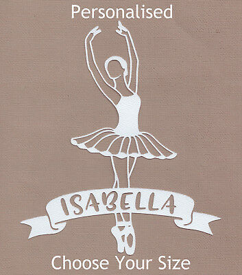 Scrapbooking Die Cuts - DESIGN 01 * Ballerina Personalised Name * Colours A to K