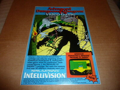 Advanced Dungeons & Dragons VIDEO GAME clipping AD advertisement INTELLIVISION
