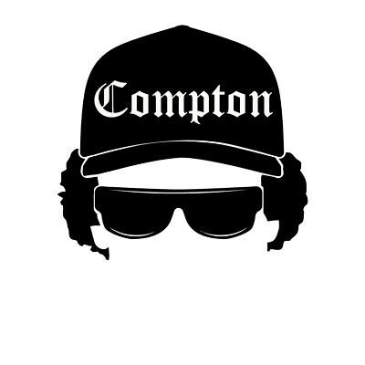 EAZY E vinyl decal N.W.A. Straight Outta Compton Ice Cube bumper sticker record