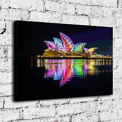 Opera House Australia Painting HD Print on Canvas Home Decor  Wall Art Picture