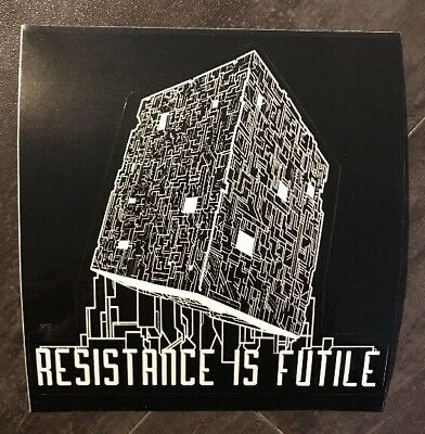 "Loot Crate Star Trek RESISTANCE IS FUTILE 5.5"" Decal STICKER Borg Mission RARE"