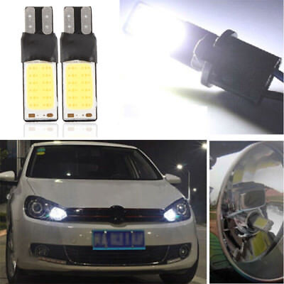 2PCS Car T10 W5W 194 168 6W LED No Error COB Canbus Side Lamp Wedge Light Lamp