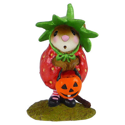 STRAWBERRY SWEETIE by Wee Forest Folk, WFF# M-542 - Retired Halloween Mouse
