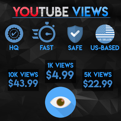 Premium YouTube Vièws | High Quality | Safe & Fast | US Seller
