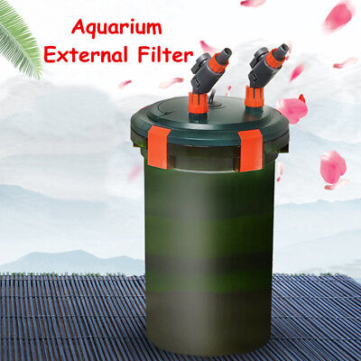 450-800L/H Aquarium Fish Tank External Canister Filter with Cotton Media 6-25W