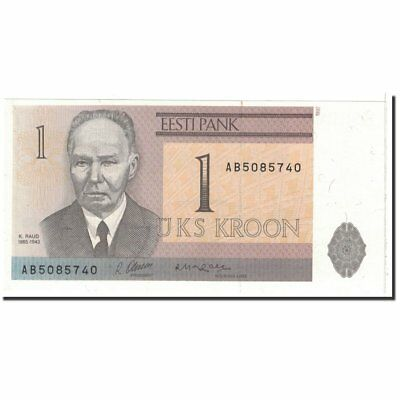 [#121984] Banknote, Estonia, 1 Kroon, 1992, Undated, KM:69a, UNC(63)