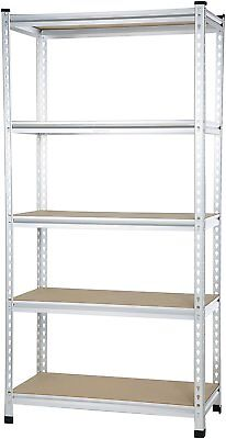 AmazonBasics Medium Duty Shelving Double-Post Press Board Shelf - 36 x 18 x 72
