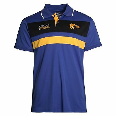 AFL West Coast Eagles 2018 Mens Premium Polyester Polo T-Shirt BNWT