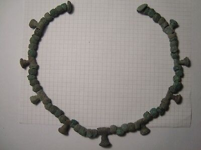 Necklace from the bronze age  Scythian culture.Metal detector finds.