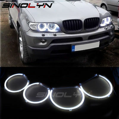 FOR BMW 1 2 3 4 5 Series Retrofit Crystal LED Angel Eyes Halo Rings