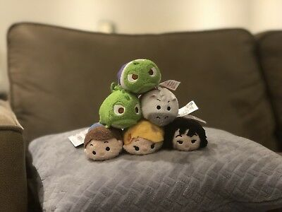 Complete 6 Tangled Tsum Tsum Disney Store Set with Tags