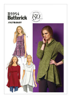 Butterick Sewing Pattern B5954 5954 Misses 16-24 Easy Fit and Flare Knit Tunics