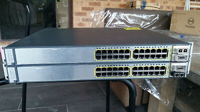 CISCO WS-C3750E-24TD-E Switch 24 x 1 GE + 2 x 10 GE Stackable