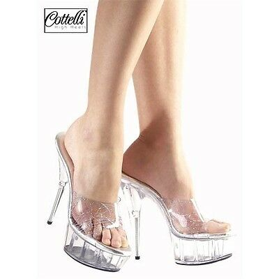 SHOES HIGH COURT TRANSPARENT SYDNEY Size 41 COTTELLI COLLECTION