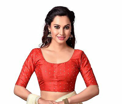 Readymade Designer saree blouse Women's Polyester Stitched Saree Blouse