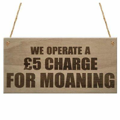 We Operate A Charge For Moaning Funny Man Cave Home Bar Hanging Plaque Novelty P