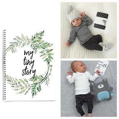 Monochrome Milestone Cards & Baby Memory Book Baby Shower Gift Set
