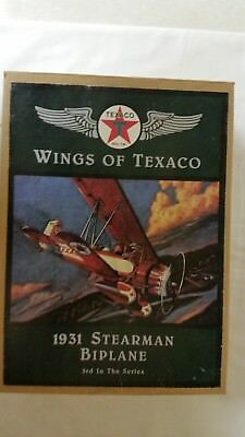 Texaco Metal Airplane Bank 1931Stearman Biplane. (Wings of Texaco)