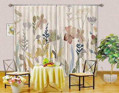 Painting Flower  3D Blockout Photo Curtain Print Curtains Fabric Kids Window