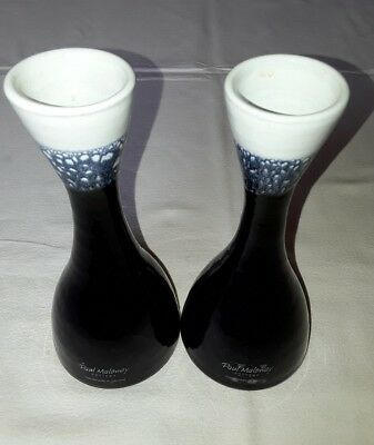 A Pair of Paul Maloney Pottery Handmade in Co. Wexford Ireland Bud Vases