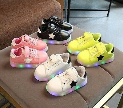 Light Up Led Kids Shoes For Baby Toddler And Youth Girls Glowing Sneakers