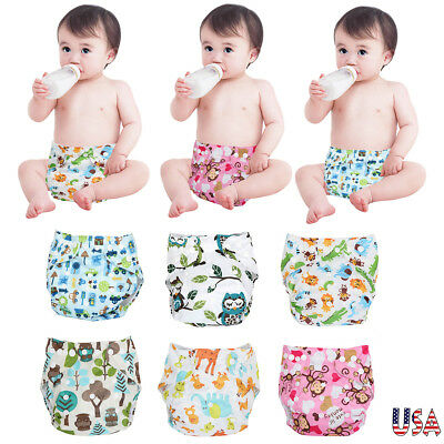 One Size Cloth Diapers Lot Newborn Baby Nappies Reusable Washable Adjustable