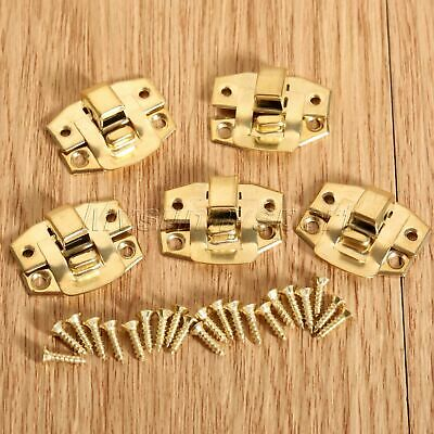 GOLD DECORATIVE Jewelry Box Latch Hasp Lock Clasp Suitcase Chest