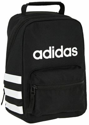 New Nwt Adidas Youth Santiago Black Insulated School Tote Lunch Box Lunchbox Bag