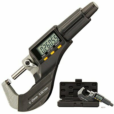"Electronic 0-1"" Digital Micrometer Caliper 0.00005""/0.001 Mm Resolution Tools By"