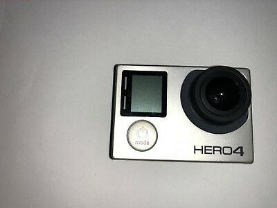 USED IN GREAT CONDITION Go Pro Hero 4 Silver + waterproof case+ battery + more