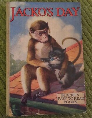 JACKO'S DAY - Dorothy King - Blackie Easy to Read Vintage Book