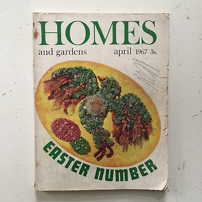 Vintage HOMES and GARDENS Magazine April 1967 RETRO Furniture Adverts DENBY etc.