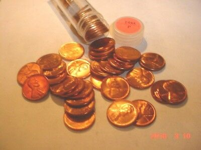 Uncirculated Roll Of 1955 Lincoln Cents, All Reds!!