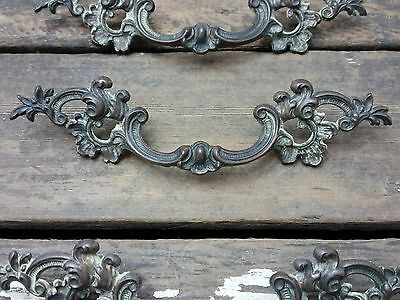 "ONE Vtg Fancy SHABBY Provincial Scroll KEELER Brass Pull Handle Dresser 3"" CC"